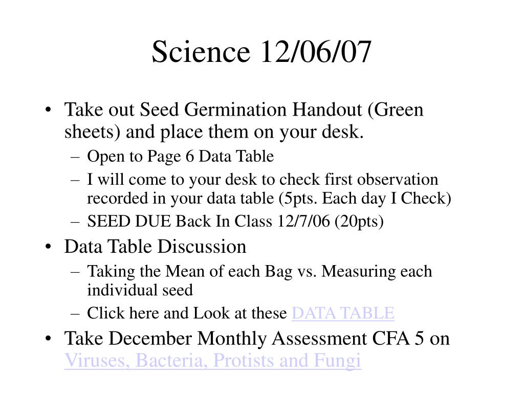 Science 12/06/07