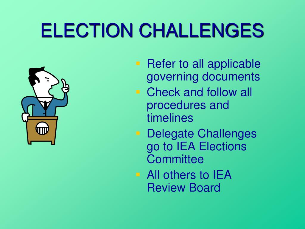 ELECTION CHALLENGES
