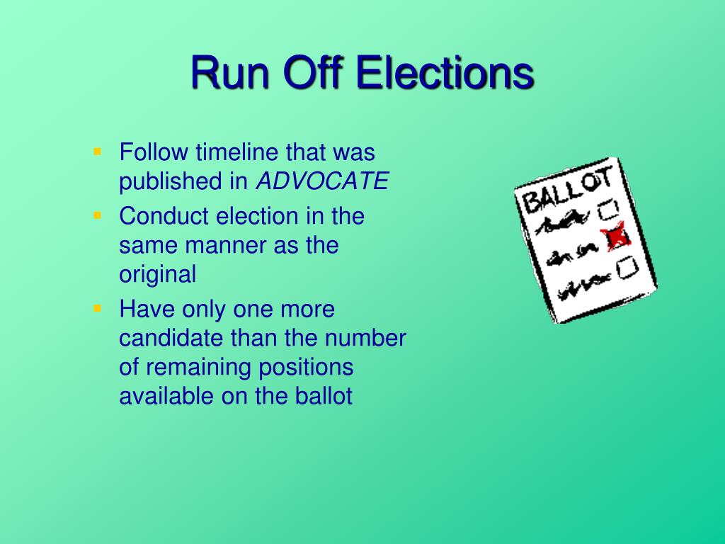Run Off Elections