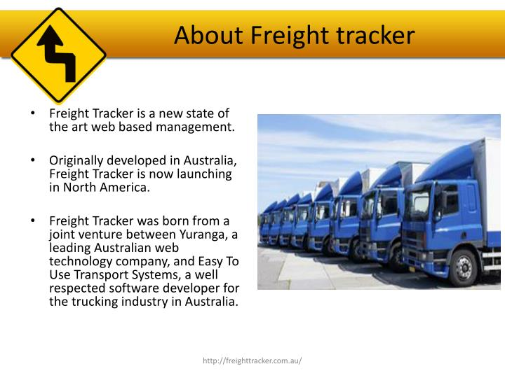 About freight tracker