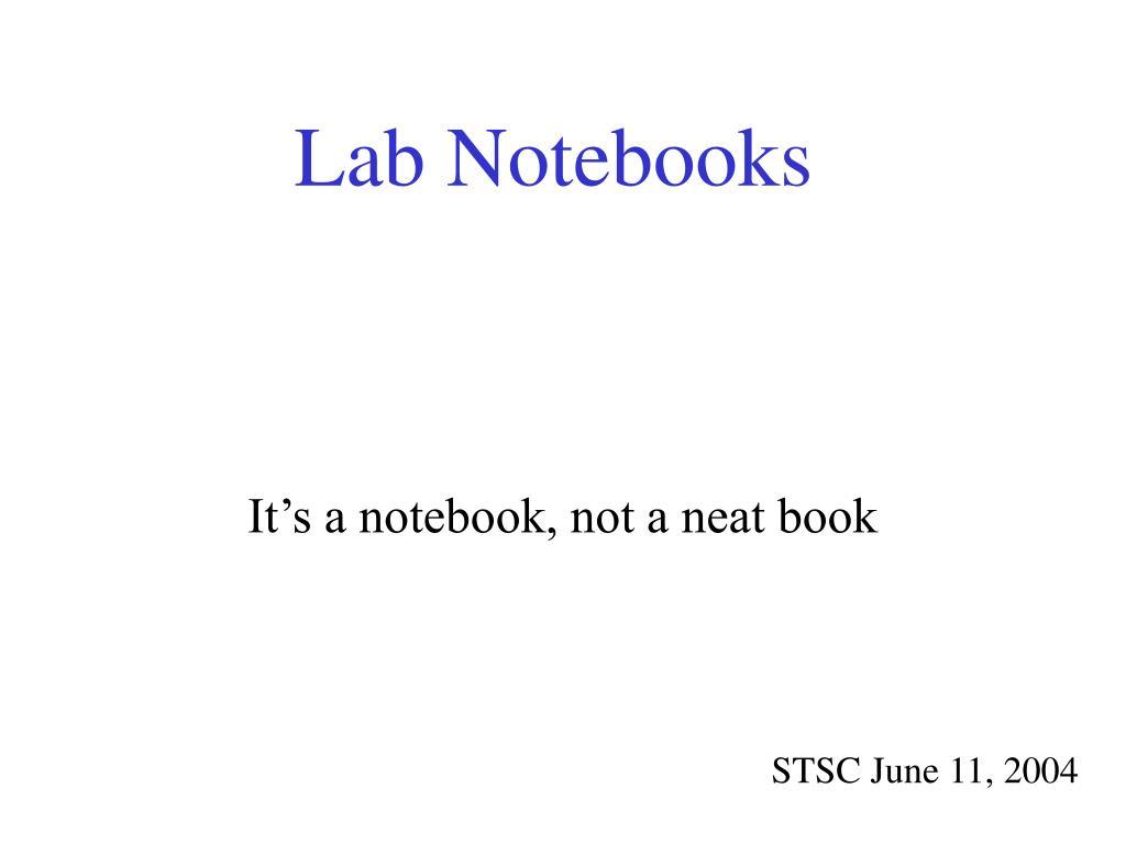 lab notebooks l.