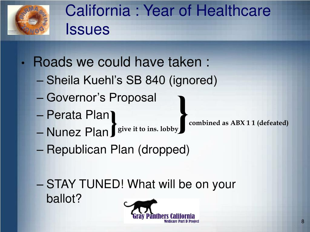California : Year of Healthcare Issues