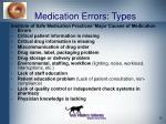 medication errors types
