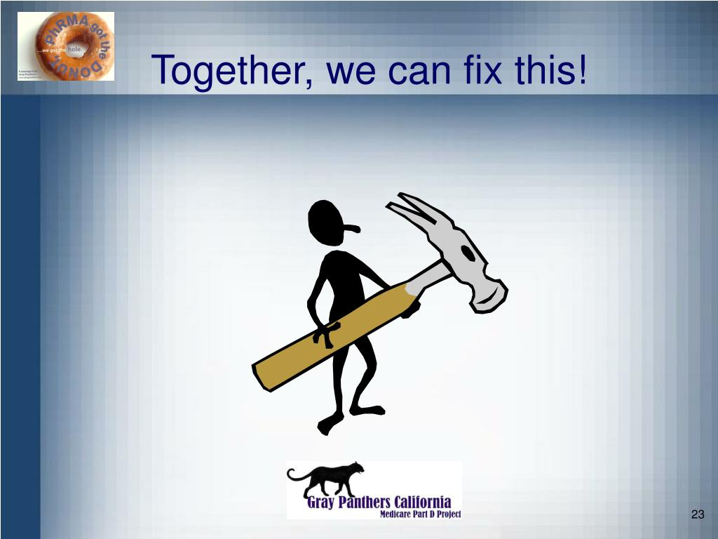 Together, we can fix this!