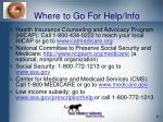 where to go for help info