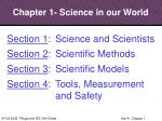 chapter 1 science in our world