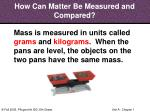 how can matter be measured and compared31