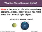 what are three states of matter