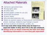 attached materials
