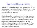 bad record keeping costs