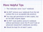 more helpful tips