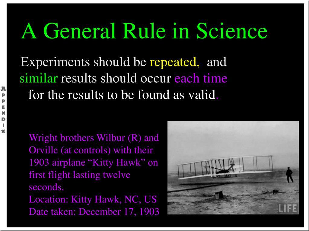 A General Rule in Science
