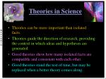 theories in science