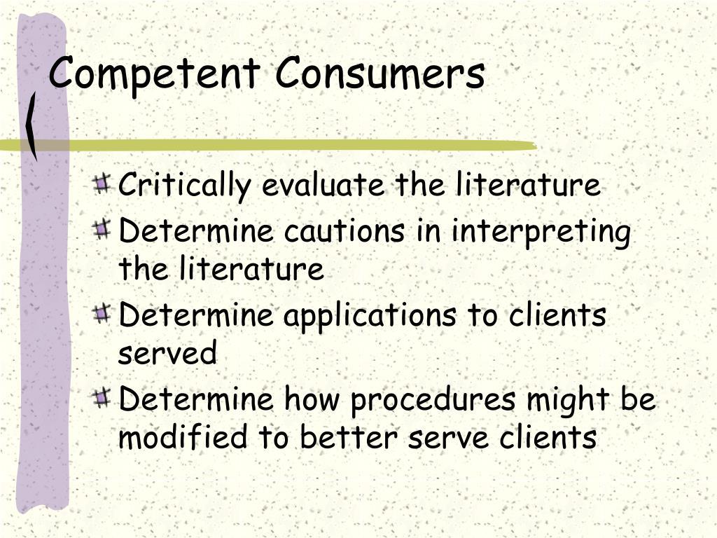 Competent Consumers