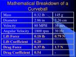 mathematical breakdown of a curveball