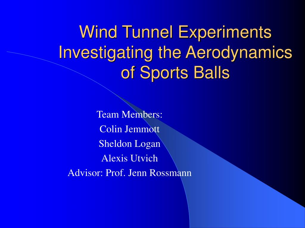 wind tunnel experiments investigating the aerodynamics of sports balls l.