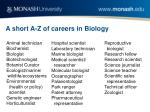 a short a z of careers in biology