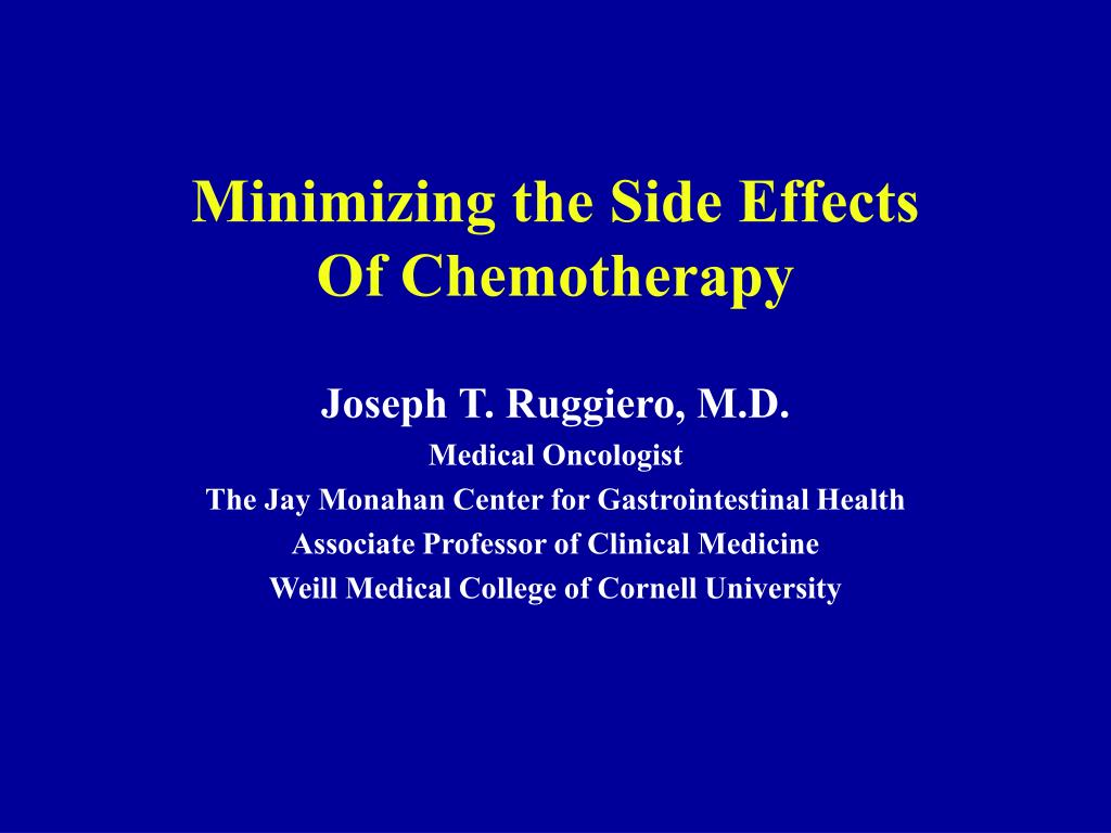 minimizing the side effects of chemotherapy l.