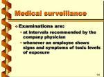 medical surveillance31