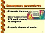 emergency procedures22
