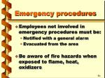 emergency procedures23