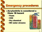 emergency procedures25