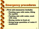 emergency procedures26
