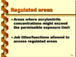 regulated areas