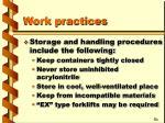 work practices17