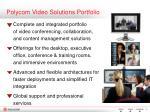 polycom video solutions portfolio