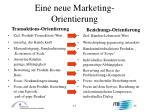 eine neue marketing orientierung
