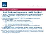 small business procurement gsa can help
