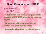 good components of ole14