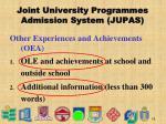 joint university programmes admission system jupas