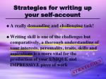 strategies for writing up your self account