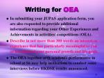 writing for oea