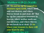 matthew 6 19 21 nasb