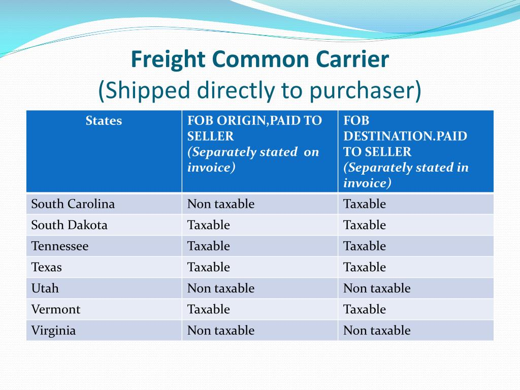 Freight Common Carrier