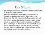 risk of loss6