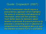 quote cropwatch 2007