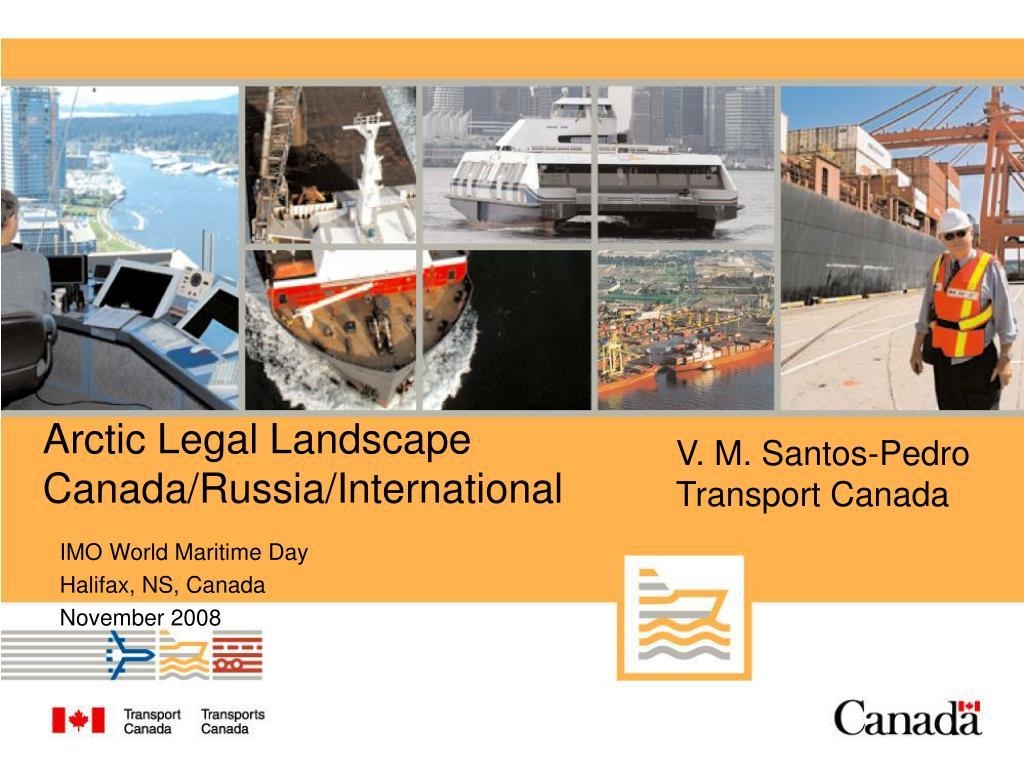 arctic legal landscape canada russia international l.