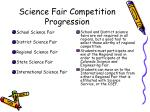 science fair competition progression