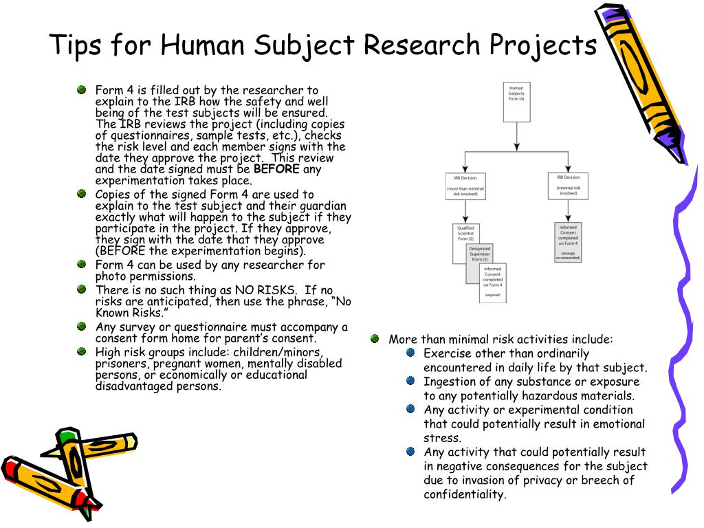 Tips for Human Subject Research Projects