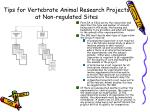 tips for vertebrate animal research projects at non regulated sites