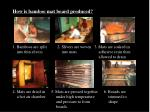 how is bamboo mat board produced