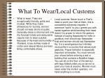 what to wear local customs
