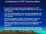 livelihood of vcf communities outside forest sources
