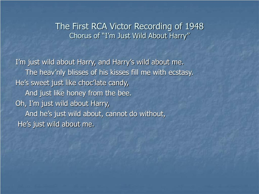 The First RCA Victor Recording of 1948