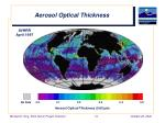 aerosol optical thickness