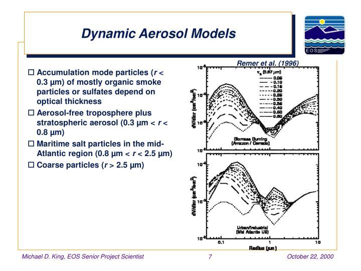 Dynamic Aerosol Models